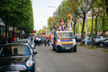 Armenian genocide th rememberance march in france strasbourg april protesters on truck and streets during the for remembrance year Royalty Free Stock Photos