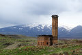 Armenian ruins ruined mosque in the ancient city of ani turkey Stock Images