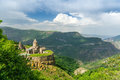 Armenian tatev monastery the տաթևի վանք tat evi vank is a th century apostolic located on a large Stock Photography
