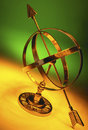 Armillary sphere celestial model an is a of objects in the sky in the consisting of a spherical framework of rings centred Stock Images