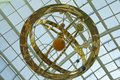 Armillary sphere suspended on the ceiling of a Spanish mall Royalty Free Stock Photo