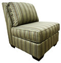 Armless Contemporary Accent Chair Royalty Free Stock Photo