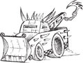 Armored tow truck vehicle sketch vector illustration art Royalty Free Stock Photo