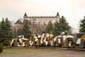 Armored train Hurban in Zvolen. Slovakia