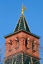 Armory stables tower the upper part of the of the moscow kremlin russia Stock Photo