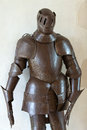Armour of the medieval knight metal protection soldier against weapon opponent Royalty Free Stock Photo