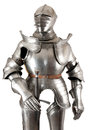 Armour of the medieval knight metal protection of the soldier against the weapon of the opponent Stock Images