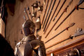 Armour suit of warwick castle Stock Photography