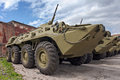 Armoured personnel carrier btr wheeled amphibious Stock Photography