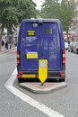Armoured security van transporting money london streets Stock Photography