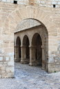 Armoury court in ibiza town entrance gate of the spain Royalty Free Stock Photos