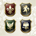 Arms in an heraldry symbolic  Royalty Free Stock Image