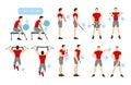 Arms workout set.