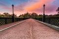 Armstrong Bridge at sunrise Royalty Free Stock Photo