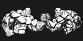 Armwrestling wrestling on hands Royalty Free Stock Photo