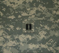 Army Captain Rank on ACU Royalty Free Stock Photo