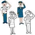 Army Cartoon People Royalty Free Stock Photos