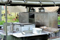 Army field kitchen i in outdoors Royalty Free Stock Images