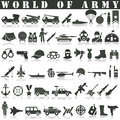 Army Icons Set.