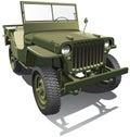 Army jeep Royalty Free Stock Photo