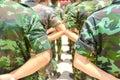 Army parade Royalty Free Stock Photo