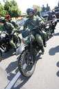 Army patrol the to secure the city in a presidential election in the city of solo central java indonesia Stock Photos
