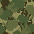 Army Pattern elephant. Camo background of green elephant. Milita Royalty Free Stock Photo
