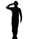 Army soldier man saluting Stock Image