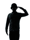 Army soldier man saluting Royalty Free Stock Photo