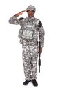 Army Soldier Saluting Royalty Free Stock Photo