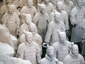 Army of Terracotta Warriors Royalty Free Stock Images