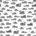 Army transport seamles pattern design - military transportation background