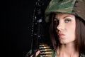 Army Woman Stock Photo