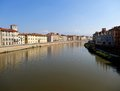 Arno River And Architecture Of...