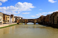 Arno river and old bridge, Florence Royalty Free Stock Photo
