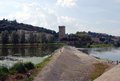 Arno river the is a in the tuscany region of italy Stock Images