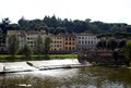 Arno river the is a in the tuscany region of italy Royalty Free Stock Images