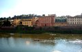 Arno river the is a in the tuscany region of italy Stock Photography