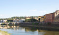 Arno river view of the in florence italy Royalty Free Stock Images