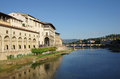 Arno river view of the in florence italy Stock Images