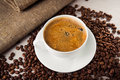 Aroma americano coffee Royalty Free Stock Photo