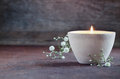 Aroma candle Royalty Free Stock Photo
