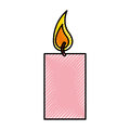 Aroma therapy candle spa icon