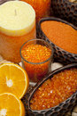 Aromatherapy - Orange bath salt Royalty Free Stock Photo