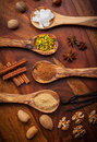 Aromatic baking ingredients Royalty Free Stock Image