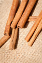 Aromatic cinnamon sticks detail macro closeup christmas wintertime Royalty Free Stock Photos