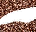 Aromatic coffee beans on white background Royalty Free Stock Photo