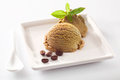 Aromatic coffee ice-cream serving Royalty Free Stock Image