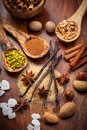 Aromatic food ingredients Stock Photos