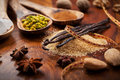 Aromatic food ingredients for baking assortment of Stock Image
